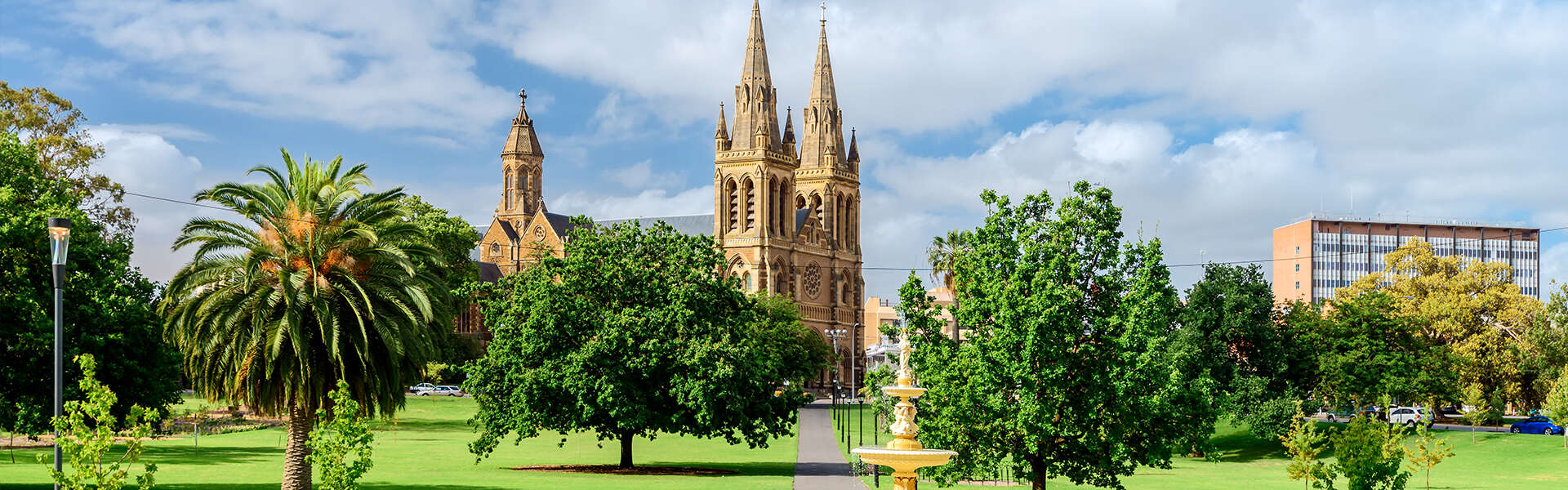 St. Peter Cathedral in Adelaide city Patwhay to Aus